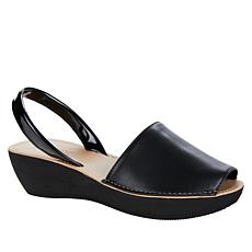"""""""As Is"""" Kenneth Cole Reaction Fine Glass Wedge Slingback Sandal - S..."""