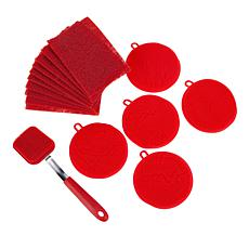 """""""As Is"""" Kitchen HQ 16-piece Silicone Cleaning Set"""