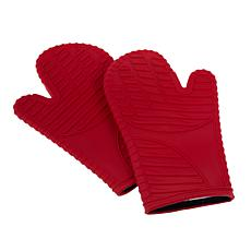 """As Is"" Kitchen HQ Super Grip Heat Resistant Oven Mitts"