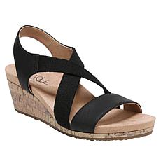 """As Is"" LifeStride Mexico Slingback Cork Wedge Sandal"