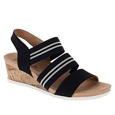 """As Is"" LifeStride Sunshine Cork Wedge Stretch Sandal"
