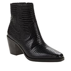 """As Is"" Lucky Brand Jaide Leather Croco-Embossed Ankle Boot"
