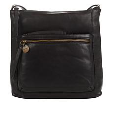 """""""As Is"""" Lucky Hilt Large Leather Crossbody Bag"""