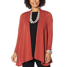 """""""As Is"""" MarlaWynne Luxe Jersey Topper with Pockets"""