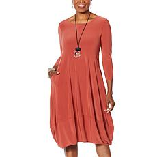 """As Is"" MarlaWynne Matte Jersey Dress with Pockets"