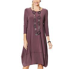 """As Is"" MarlaWynne Matte Jersey Dress with Pockets"