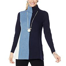 """""""As Is"""" MarlaWynne Milano Soft Knit Colorblocked A-Line Sweater"""