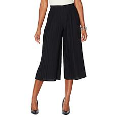 """As Is"" MarlaWynne Pleated Wide-Leg Cropped Pant"