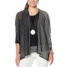 """As Is"" MarlaWynne Sheer Stitch Burnout Cardigan"
