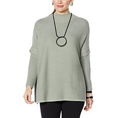 """As Is"" MarlaWynne SoftKNIT Turtleneck Poncho Sweater"