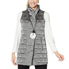 """As Is"" MarlaWynne Triangular Quilted Vest"