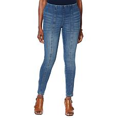 """As Is"" Motto Contour Seamed Stretch Denim Ankle Jean"