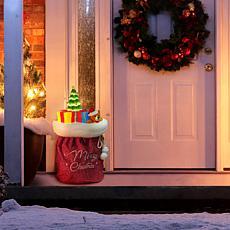 """As Is"" Mr. Christmas 30"" LED Santa's Toy Bag"