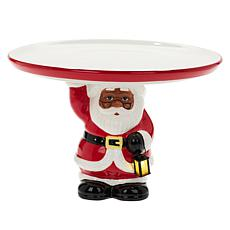 """As Is"" Mr. Christmas Battery-Operated Cake Stand with 10"" Plate"