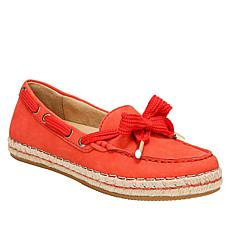 """""""As Is"""" Naturalizer Annabeth Leather Moc-Toe Espadrille Flat"""