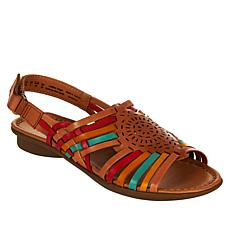 """As Is"" Naturalizer Whistle Woven Leather Flat Sandal"