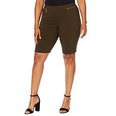 """As Is"" Nina Leonard Cuffed Pull-On Bermuda Short"