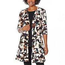 """As Is"" Nina Leonard Dolce Knit Duster Cardigan with Pockets"