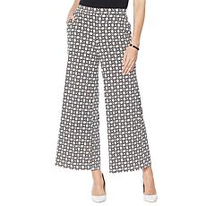"""As Is"" Nina Leonard Printed Matte Jersey Palazzo Pant"