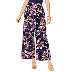 """As Is"" Nina Leonard Stretch Crepe Wide Leg Pant with Pockets"