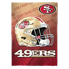 """As Is"" Officially Licensed NFL Fleece Speed Flex Throw - 49ers"