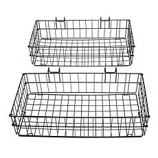 """As Is"" Origami 2-pack Steel Side Baskets"