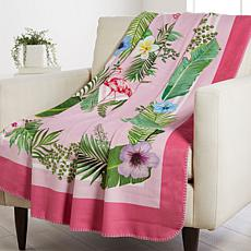 """""""As Is"""" Patricia Altschul Luxe Printed Oversized Throw"""