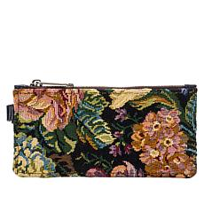 """As Is"" Patricia Nash Almeria Credit Card Leather Wristlet"