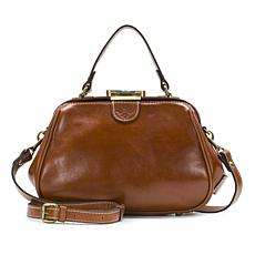 """As Is"" Patricia Nash Gracchi Leather Frame Satchel"