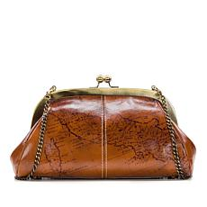 """As Is"" Patricia Nash Mia Leather Frame Satchel"