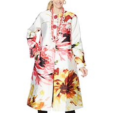 """As Is"" Rara Avis by Iris Apfel A-Line Floral Topper"