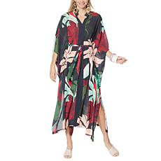 """As Is"" Rara Avis by Iris Apfel Long Printed Caftan"