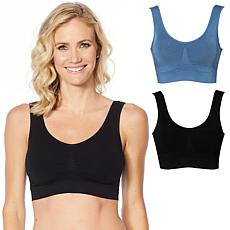 """""""As Is"""" Rhonda Shear 2-pack Seamless Modal Bra with Removable Pads"""