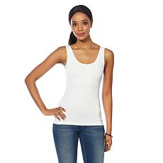 """As Is"" Rhonda Shear Seamless Tank with Shelf Bra 2-pack"