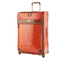 """As Is"" Samantha Brown 30"" Spinner Croco Embossed Suitcase"