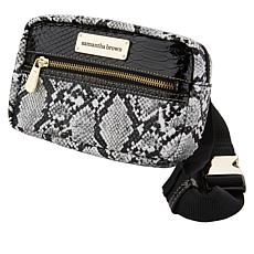 """As Is"" Samantha Brown Embossed Hip Bag"