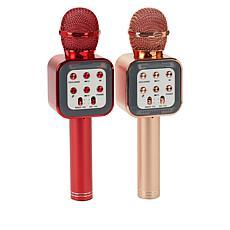 """""""As Is"""" Set of 2 Handheld Bluetooth Karaoke Microphone"""