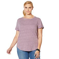 """As Is"" Skinnygirl Daphne High-Low Tee with Cutout"