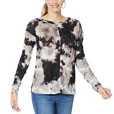 """As Is"" Skinnygirl Gypsy Tie-Dye Hacci Knit Top"