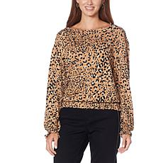 """""""As Is"""" Skinnygirl Vicky Baby French Terry Knit Top"""