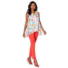 """As Is"" Slinky® Brand 2-piece Sleeveless Flyaway Tunic and Skinny Pant"