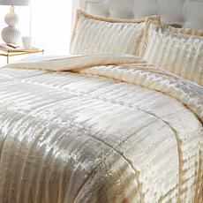 """As Is"" Soft & Cozy Faux Fur Comforter Set"