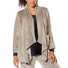 """""""As Is"""" Soft & Cozy Plush Lounging Cardigan"""
