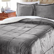 """""""As Is"""" Soft & Cozy Plush Sherpa Comforter Set"""