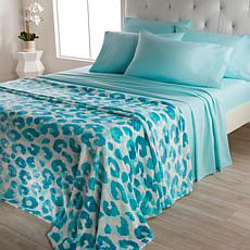 """""""As Is"""" South Street Loft Plush Blanket and 6-piece Microfiber Shee..."""