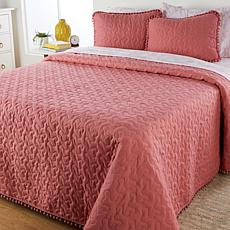"""As Is"" South Street Loft Pom Pom Quilt Set"