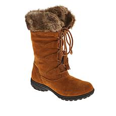 """As Is"" Sporto® Megan Waterproof Suede Tall Boot with Faux Fur"