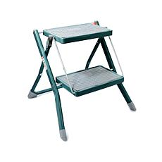 """As Is"" StoreSmith Metal 2-Tier Folding Step Ladder"
