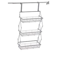 """""""As Is"""" StoreSmith Over-the-Door Collapsible 3-Tier Baskets"""