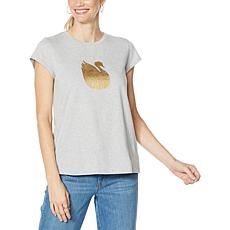 """As Is"" Vanderbilt Jeans Swan-Print T-Shirt"
